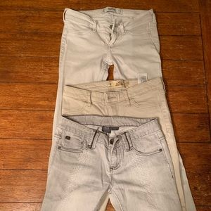 3 pairs of women's jeans 25w 29L